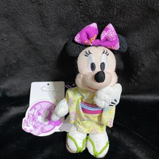 ディズニー(Disney)の新品 浴衣 ミニー ぬいぐるみバッチ ディズニー 和服 ストラップ ぬいスト(ぬいぐるみ)