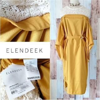 ENFOLD - 美品♥️約3万【ELENDEEK*エレンディーク】ショルダーレスMIXワンピース