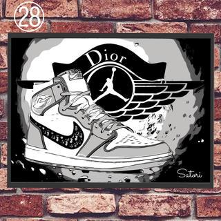 AIR JORDAN 1 Dior コミックシューズ ポスター 1枚 額付き(スニーカー)