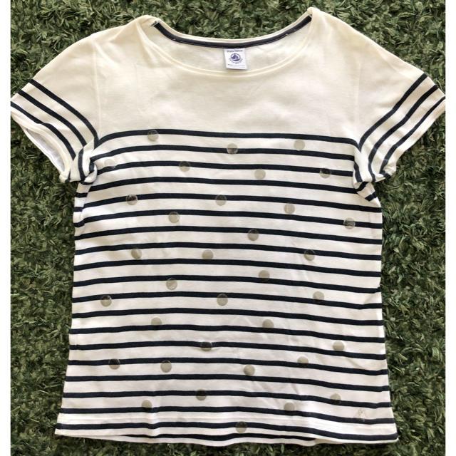 PETIT BATEAU(プチバトー)のプチバトーボーダーカットソー 140(単品購入可) キッズ/ベビー/マタニティのキッズ服女の子用(90cm~)(Tシャツ/カットソー)の商品写真
