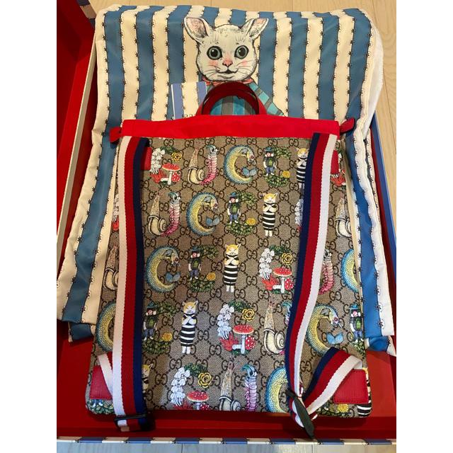 Gucci(グッチ)の【新品】GUCCI グッチ❣️ヒグチユウコ❣️バックパック トートバッグ レディースのバッグ(リュック/バックパック)の商品写真