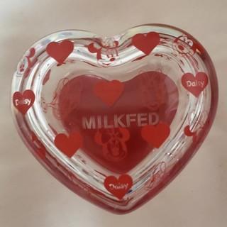 ミルクフェド(MILKFED.)の値下げ ミルクフェド ディズニーコラボ ハートガラスケース ミニー デイジー(小物入れ)