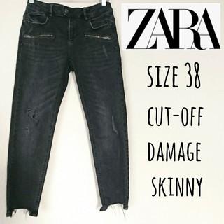 ザラ(ZARA)のZARA cut-off damage skinny 38(デニム/ジーンズ)
