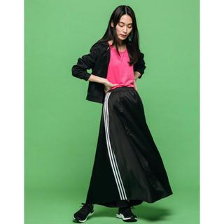 アディダス(adidas)のアディダス ロングスカート 黒(ロングスカート)