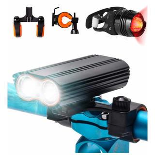自転車ライト LED 防水 サイクリングライト 1600ルーメン 4400mAh(ライト/ランタン)
