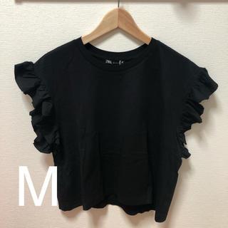 ZARA - ZARA フリル付きTシャツ M