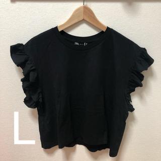 ZARA - ZARA フリル付きTシャツ L