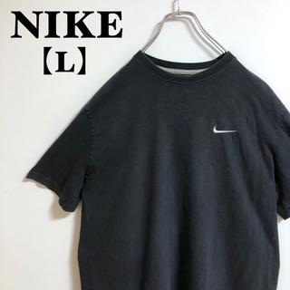 ナイキ(NIKE)の【L】NIKE ナイキ Tシャツ 刺繍ワンポイントロゴ ブラック ゆるだぼ(Tシャツ/カットソー(半袖/袖なし))