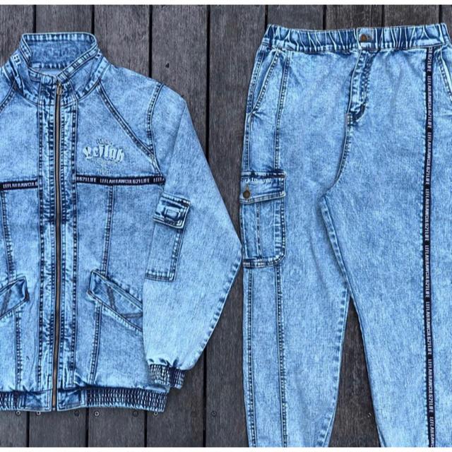 WANIMA(ワニマ)のLEFLAH ケミカルウォッシュ セットアップ メンズのパンツ(デニム/ジーンズ)の商品写真