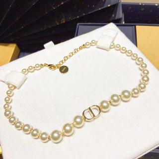 クリスチャンディオール(Christian Dior)のクリスチャンディオール チョーカー ネックレス パール(ネックレス)