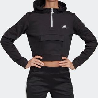 アディダス(adidas)の新品 adidas アディダス パーカー トップス トレーナー スウェット 黒(トレーナー/スウェット)