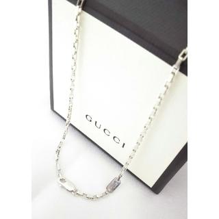 Gucci - 正規品 GUCCI/グッチ ネックレス(①スクエアチェーン①) シルバー925
