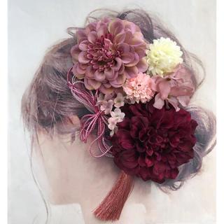 愛らしい髪かざり 袴 卒業式 結婚式 成人式 前撮りに はかまにかみかざり(ヘアピン)