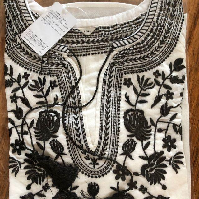 IENA(イエナ)のイエナ エンブロイダリー 刺繍 ブラウス 7分袖  レディースのトップス(シャツ/ブラウス(長袖/七分))の商品写真