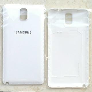 サムスン(SAMSUNG)の新品 Galaxy note3 サムスン SAMSUNG バッテリーカバー 純白(Androidケース)