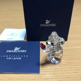 スワロフスキー(SWAROVSKI)の訳あり スワロフスキー SWAROVSKI クリスベア クマ フィギュリン 置物(ガラス)