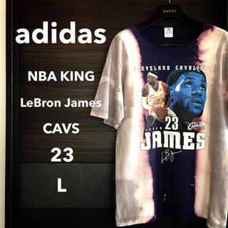 アディダス(adidas)の【激レア一点物】adidas レブロン・ジェームズTEE【ブリーチエフェクト】(Tシャツ/カットソー(半袖/袖なし))