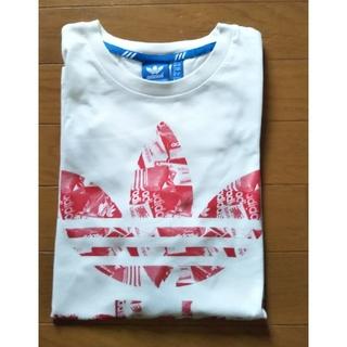 アディダス(adidas)のアディダス  adidas  白  Tシャツ  半袖(Tシャツ/カットソー(半袖/袖なし))