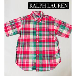 ラルフローレン(Ralph Lauren)のラルフローレン RALPH LAUREN チェック 半袖シャツ 美品 M(ブラウス)