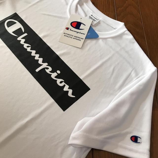 Champion(チャンピオン)の新品❤️チャンピオン 速乾性Tシャツ メンズM ホワイト メンズのトップス(Tシャツ/カットソー(半袖/袖なし))の商品写真