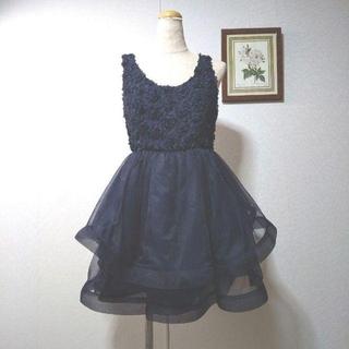 リリーブラウン(Lily Brown)のS M Lily Brown  パーティー  ドレス  濃紺(ミニドレス)