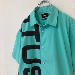 STUSSY - STUSSY/ステューシー 半袖シャツ デカロゴ ミントカラー ビックロゴ