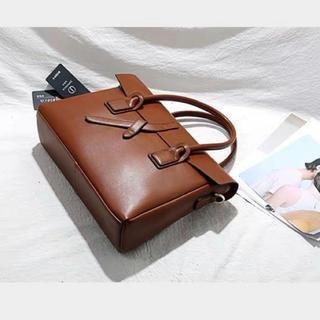 牛革 本革 トートバッグ ブラウン ビジネスバック カジュアル インポート(ビジネスバッグ)