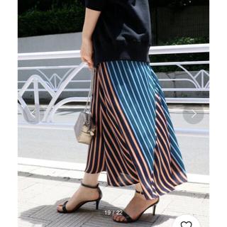 IENA - IENA♡マルチストライプランダムフレアスカート 36