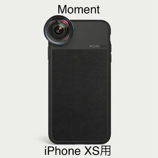 【日本未発売】Moment iPhone XS Black Canvas ケース(iPhoneケース)