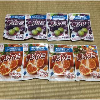 明治 - 果汁グミ ぶどう 温州みかん 8袋セット