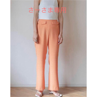 PHEENY - PHEENY パンツ/Double weave dobby easy pants