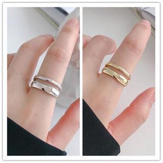 レイヤードリング【シルバー、ゴールド】(リング(指輪))
