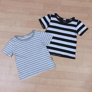 シマムラ(しまむら)の半袖 ボーダー Tシャツ  100(Tシャツ/カットソー)