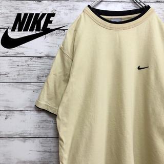 ナイキ(NIKE)の【アースカラー】NIKE 刺繍ワンポイントロゴ リンガーTシャツ(Tシャツ/カットソー(半袖/袖なし))