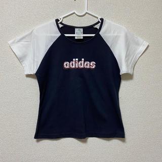 アディダス(adidas)のトップス Tシャツ 半袖 ロゴ(Tシャツ(半袖/袖なし))