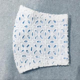 インナーマスク 刺繍レース/白/ギンガムチェック(その他)