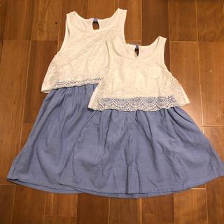 GLOBAL WORK - 女の子夏服キッズお揃い 120・100サイズ