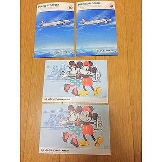 ディズニー(Disney)のJAL ディズニー ポストカード(キャラクターグッズ)