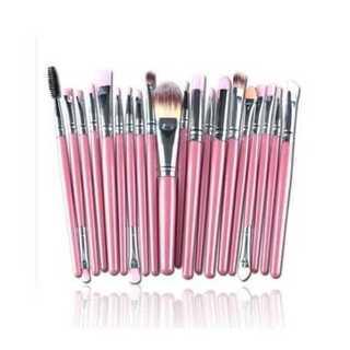 メイクブラシ 化粧 美容 メイクアップ 柔らかい 多機能 20本 セット ピンク(その他)