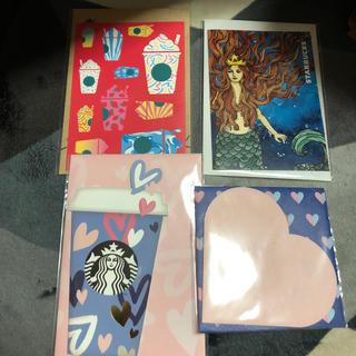 スターバックスコーヒー(Starbucks Coffee)のスターバックス ポストカード 4種類(ノベルティグッズ)