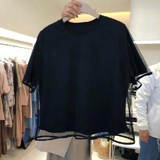 ザラ(ZARA)のチュールTシャツ(Tシャツ(半袖/袖なし))