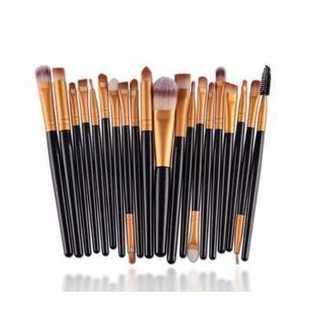 メイクブラシ 化粧 美容 メイクアップ 柔軟 多機能 20本 セット ブラック(その他)