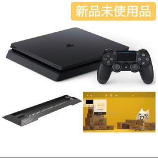 プレイステーション4(PlayStation4)のps4 ジェット・ブラック 500GB  スタンド オリジナルカスタムテーマ付き(家庭用ゲーム機本体)