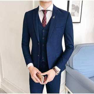 紳士 チェック柄 セットアップ スーツジャケット着痩せ スーツメンズ zb336(セットアップ)