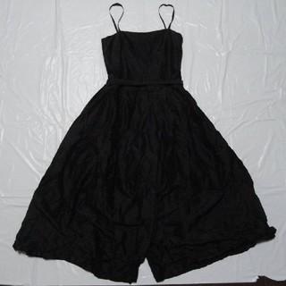 ナチュラルビューティーベーシック(NATURAL BEAUTY BASIC)の4万円 日本製 美品★ナチュラルビューティーベーシック ドレス 黒M★ワンピース(その他ドレス)