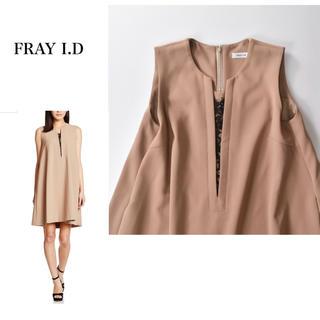 FRAY I.D - フレイアイディー スリットレースAラインワンピース 結婚式 ドレス