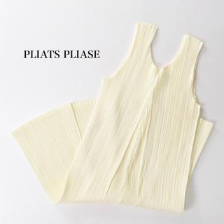 PLEATS PLEASE ISSEY MIYAKE - 美品 プリーツプリーズ イッセイミヤケ ノースリーブ チュニック ワンピース