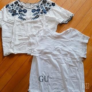 ジーユー(GU)のトップス2点セット(Tシャツ(半袖/袖なし))