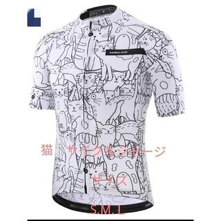 新品 サイクリングウェアー サイズ S、M、L 半袖 猫イラスト(ウエア)