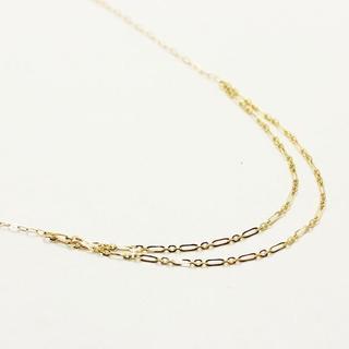 日本製 10金イエローゴールド 40cm 丸アズキチェーン デザインネックレス(ネックレス)
